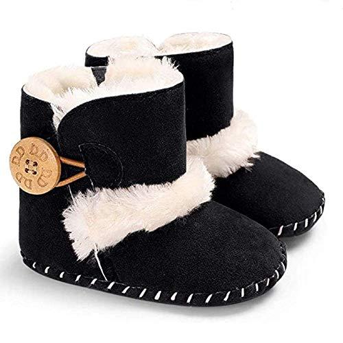 033 Stivali Invernali per Bambino, Unisex Neonato Carino Suola Antiscivolo Stivali Scarpe in Cotone Bambina Stivali da...