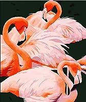 DIY数字油絵 塗り絵キット パズル油絵 動物の鳥 デジタル油絵 手塗り 数字キットによる絵画 絵かき インテリア 壁飾り ホームデコレーション 40x50cm(額縁なし)