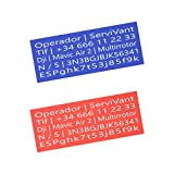 SERVIVANT ● Kit de 2 Placas Identificativas para...