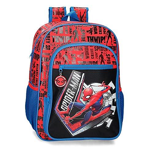 Marvel Spiderman Great Power Mochila Adaptable Rojo 30x40x13 cms Poliéster 15 6L