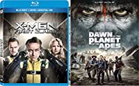 Dawn Of The Planet Of The Apes & X-men - First Class [Blu-ray] Sci-Fi Set