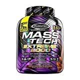 Mass Gainer Protein Powder | MuscleTech Mass-Tech Extreme 2000 | Muscle Builder Whey Protein Powder | Protein + Creatine + Carbs | Max-Protein Weight Gainer for Women & Men | Chocolate, 7 lbs