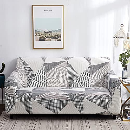 LIWENFU Cubierta de sofá para Sala de Estar Todo Incluido Elástico Stretch SOFE SlightCover Decoración del hogar 1/2/3/4 Seaver Sofá Cubiertas (Color : C22, Specification : 1seater 90 140cm)