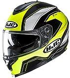 HJC Helmets Unisex– Erwachsene Nc Motorrad Helm, Schwarz/Weiss/Fluo, S