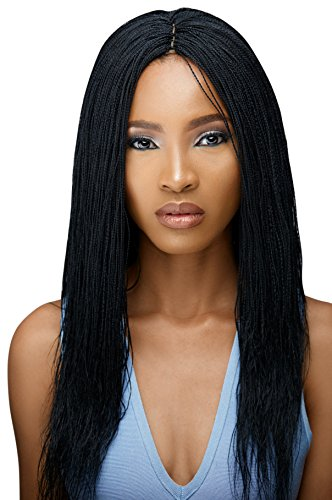 Braided Wigs, WOW BRAIDS Twisted Wigs, Micro Million Twist Wig - Color 1-18 Inches. Synthetic Hand Braided Wigs for Black Women, 1