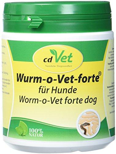 cdVet Naturprodukte Wurm-o-Vet forte Hund 300 g - Hund - Ergänzungfuttermittel - überhöhter Wurmbesatz - Unterstützung - Mangel an Kräuterinhaltsstoffen - Stärkung der Verdauung - Gesundheit -