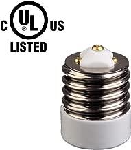 UL-listed Mogul (E39) to Medium (E26/E27) Light Bulb Lamp Socket  Porcelain Adapter Converter Reducer