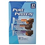 Pure Protein Bar Chocolate | Peanut Butter Chewy Chocolate Chip Chocolate Deluxe High Protein Nutritious Snacks to Support Energy Low Sugar Gluten Free Variety Pack - 21 x 1.76 oz