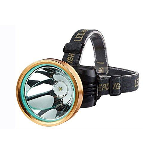 M-zmsdt LED-Scheinwerfer Blendung Head-montierte Taschenlampe Super Bright Night Angeln Lichter mit Ladegerät und Batterie (Farbe : 5000W)