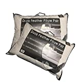 NIGHTS Hotel Quality 100% Duck Feather Pillow Pair Soft Extra Filling Pillow