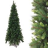 GENERAL TRADE Albero di Natale Slim in Misto Silicone cm 230 Finto salvaspazio e Artificiale