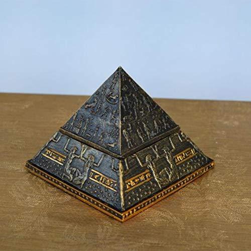 QMMD Personalidad Antiguo Egipto Khufu Pyramid Modelo Creativo Pequeño Adornos, Decoración del Hogar Artesanía Cajas de Joyas Regalos, Cremación de Mascotas Ashes Memorial Contenedor Jar Pot,Big