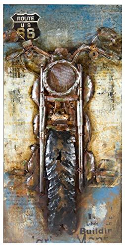 GILDE Gallery Bild Motorcycle - Kunstobjekt - handgefertigte Metallkunst 70x140 cm