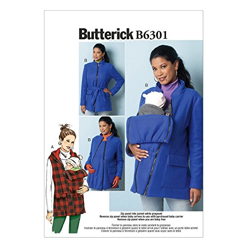 Butterick Muster E51B5Größen 8–16Schnittmuster Mutterschaft Weste/Mantel und Gürtel Schnittmuster, Mehrfarbig