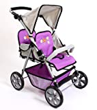 Chic 2000 688 55 - Zwillings Buggy Tandem Purple