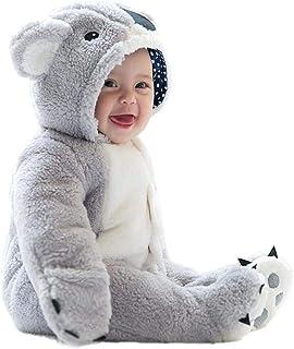 per Rompers Bebés Recién Nacidos Pijamas Bebés de Una Pieza Saco de Dormir Infantil Mamelucos Invierno Espesado para Bebés de 0-12Meses