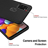 iBetterTEC for Samsung Galaxy A21s Case, Premium Flexible Rubber Cover Shock Proof with Anti-Scratch Ultra-Thin for Samsung Galaxy A21s Smartphone.Black