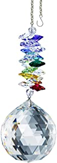 CrystalPlace Crystal Ornament 4.5 inch Window Suncatcher Clear Faceted Ball Prism Rainbow Maker Crystal Cascade Made with Swarovski Crystals