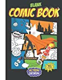 blank comic book notebook action design: 150 Pages of Fun and Unique Templates, Blank comic book draw your own comics and cartoons.