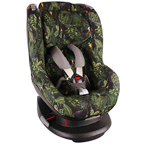Bezug Maxi-Cosi Tobi Kindersitz Grün Dschungel Schweißabsorbierend und weich für Ihr Kind Schützt vor Verschleiß und Abnutzung Öko-Tex 100 Baumwolle