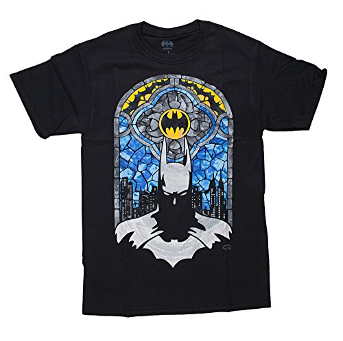 Changes Batman Stained Glass Tee Shirt L Black