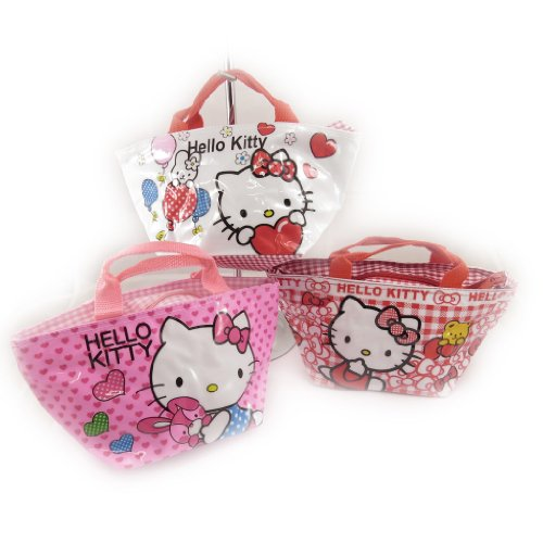 Hello Kitty [K8306-3 sacs shopping rose blanc rouge