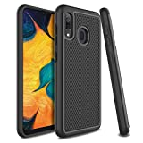 UniSpg Samsung A20 Case,Galaxy A20 Phone Case | Heavy-Duty Military-Grade Drop Protection Tough Rugged Shockproof Dual Layer Hybrid Armor Protective Case for Samsung Galaxy A20 [Black]