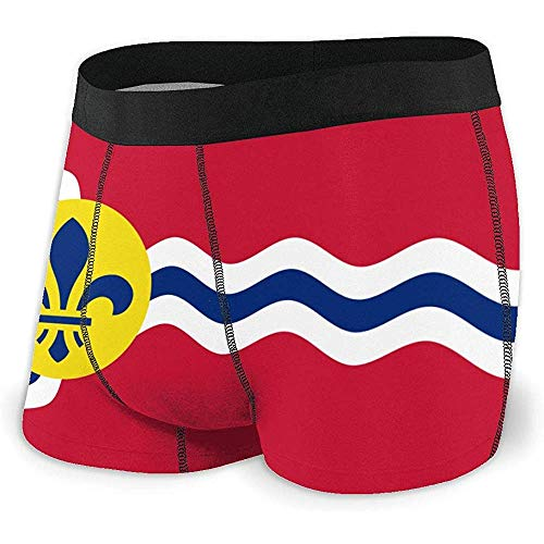 Web--ster Flag of St. Louis Herren-Boxershorts, Baumwolle No Ride-up Breathable Tagless Trunk Mens Underwea
