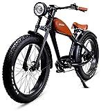 Italmoto Tiquattro EB 500W - Fat 26 x4.0 Bike Elettrica 500W 48V 15Ah LG - 40Km/h - 7 velocità...
