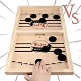 Fast Sling Puck Game, Foosball Winner Board Game/Table Desktop Battle Ice Hockey Game,Tabletop Slingshot Games Toys for Adults and Kids (Small)