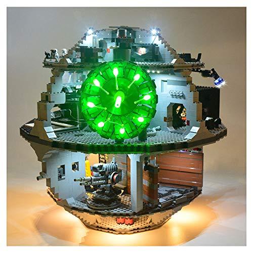 HLGQ Conjunto De Iluminación LED para (Estrella De La Muerte) Bloques De Construcción De Modelos - LED Light Kit Compatible con Lego 75159 (No Incluido El Modelo)