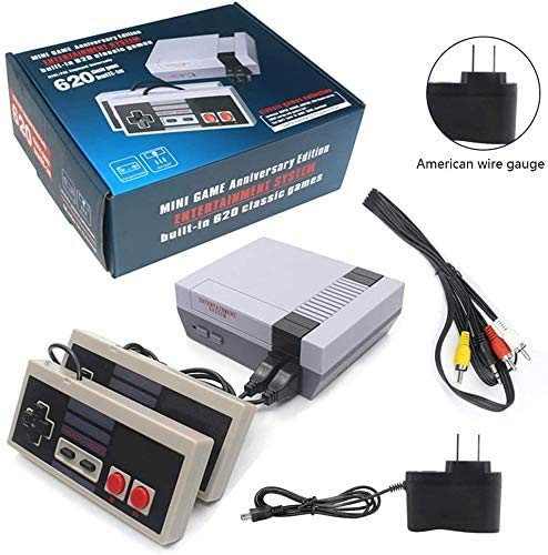 LncBoc Classic Video Game Console Classic Mini Console Builtin with 620 Classic Retro Games Dual Players Mode Console for Dual Players