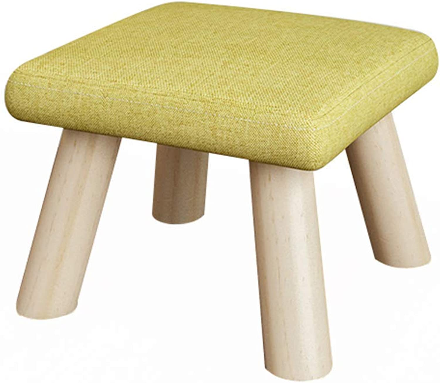 Monfs HOME Stool  Sofa Stool, Home shoes Bench, Solid Wood Living Room Small Stool Fabric Bench Comfortable decoration (color   E, Size   26  26  19cm) (color   G, Size   26  26  19cm)