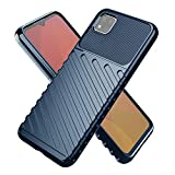 Delight Seller® Rugged Shield Rubber Silicone Anti Shock Armour Back Case Cover for Poco C3