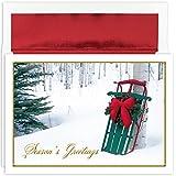 Masterpiece Studios Holiday Collection Petite Luge d'hiver Luge d'hiver