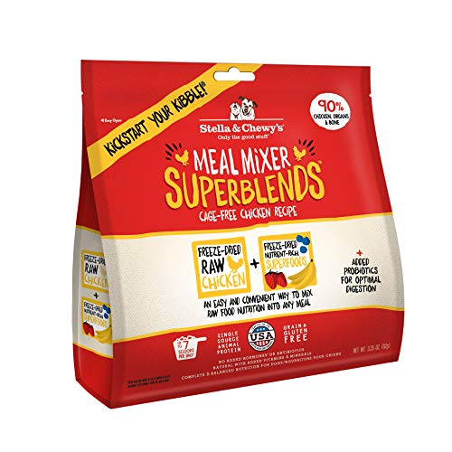 Stella & Chewy's Freeze-Dried Raw Cage-Free Chicken Meal Mixer SuperBlends Dog Food Topper, 3.25 oz. Bag