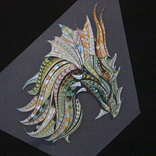 ZJL220 ropa dragón parches DIY impresión hierro en apliques calor transferencia pegatinas