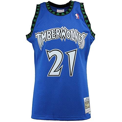 Mitchell & Ness Minnesota Timberwolves Swingman Blue Kevin Garnett Slate Throwback Jersey (Large)