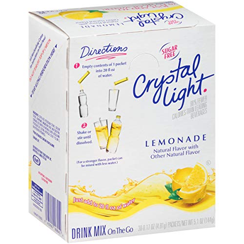 Crystal Light Lemonade Drink Mix (120 Packets, 4 Boxes of 30)