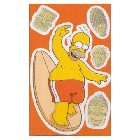 Décoration mur autocollants amovibles Simpson cm 19 x 32 enfants Chambre