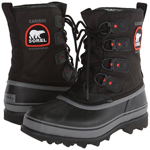 Sorel Men's Caribou Extreme Snow Boot,Black/Shale,10 M US