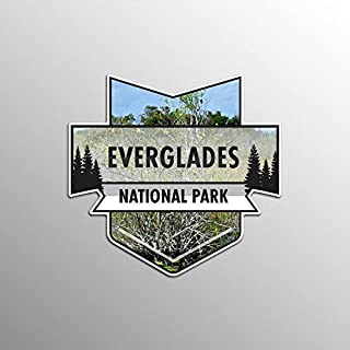 JMM Industries Everglades National Park Vinyl Decal Sticker Car Window Bumper 2-Pack 4.7-Inches by 4.4-Inches Premium Quality UV Protective Laminate NPS019
