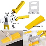 Tile Leveling System with Tile Plier - 300-Piece Tile Spacers Clips and...