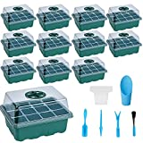 12 Pack Seed Starter Tray Kit with Seed Starting...
