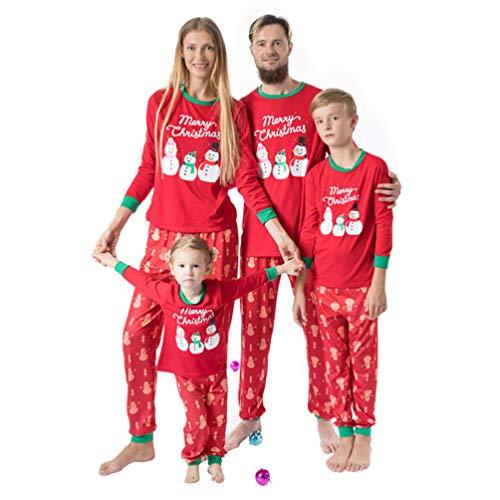 TENDYCOCO Conjunto de Pijamas navideños Familiares a Juego Conjunto de Pijamas de Navidad Conjunto de Pijamas de Vacaciones para la Familia