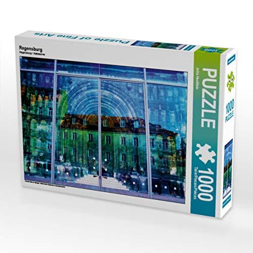 CALVENDO Puzzle Regensburg 1000 Teile Lege-Größe 64 x 48 cm Foto-Puzzle Bild von Jutta Heußlein