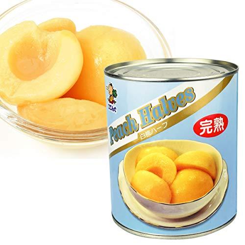 国華園 完熟 白桃 (ハーフ)・2号缶 1缶1組 (内容総量850g) 桃 缶詰