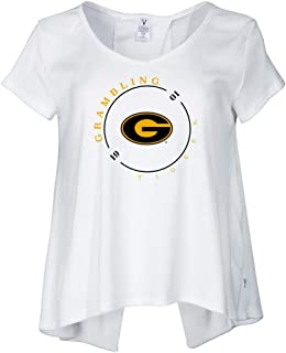 Official NCAA Grambling State University Tigers Women's Short Sleeve Rib V-Neck