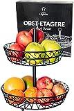 Chefarone Obst Etagere 30 cm - Obstschale Metall für mehr Platz auf der Arbeitsplatte - Etageren mit Obstschalen - dekorativer