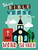 Short Bible Verse Word Search for Kids: 52 Memory Short Bible Verse for Kids Ages 6-8 (Bible Study Game for Kids)